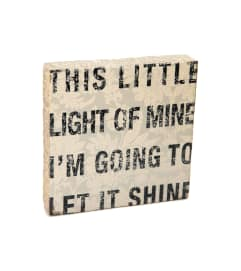 This Little Light of Mine Block Art I