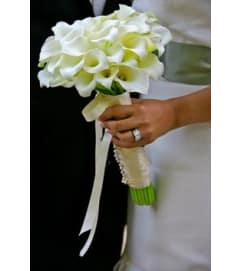 miniature calla lily bridal bouquet