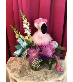 Franny the Flamingo is our newest stuffy this summer! Shes is as
