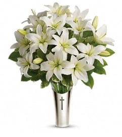 Sacred Cross Sympathy Bouquet