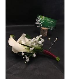 Calla lilies Boutonniere