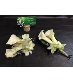 Calla lilies and orchids Duo