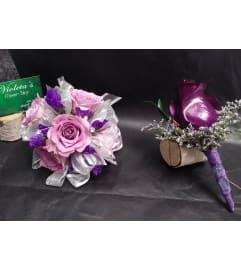 Purple Spray roses Duo