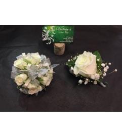White Spray roses Duo