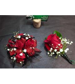 Red Mini Roses Duo