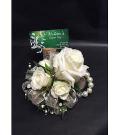 Roses with Glitter Corsage