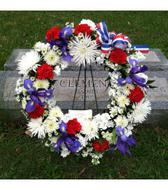 Memorial Day Wreath for the Grave