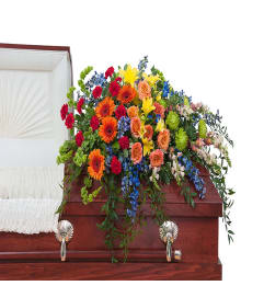 Treasured Celebration Casket Spray DW