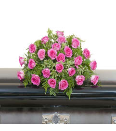 Pink Rose Casket Spray DW