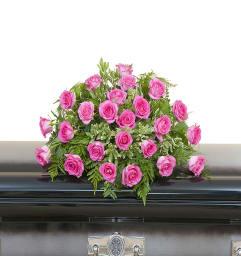 Pink Rose Casket Spray DW