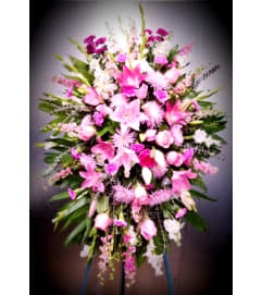Pink Lily Tribute Spray