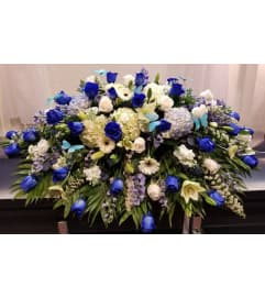 Blue and white Casket Cover