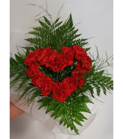 Heart Shaped Love Wrapped Bouquet
