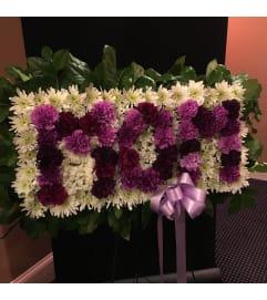 MOM Funeral Spray - Purples