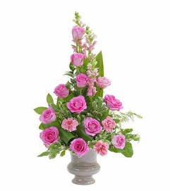 Teleflora - Peaceful Pink Small Urn