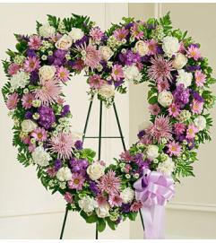 Lavender & White Heart Tribute