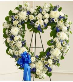 White & Blue Heart Tribute