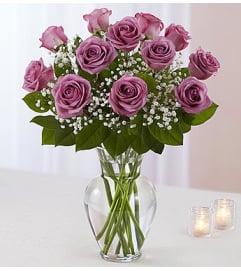 Lavender Roses One Dozen