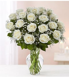 White Roses Two Dozen