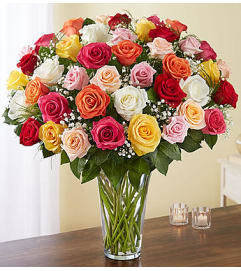 Assorted Roses Four Dozen