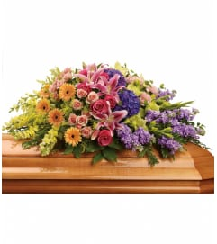 Sweet Garden Casket Spray