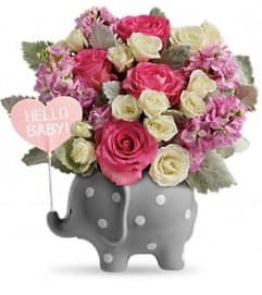 Hello Sweet Baby Bouquet - Pink