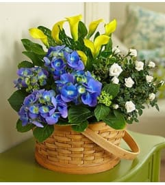 Joyful Blossoms Garden Basket