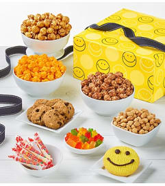 Smiley Dot Candy & Popcorn Jumbo Sample