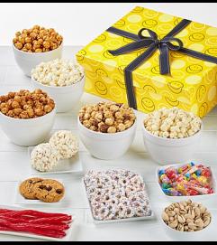 Jumbo Smiley Gift Sampler & Popcorn
