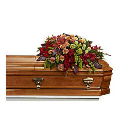 A Fond Farewell Casket Spray by Teleflora