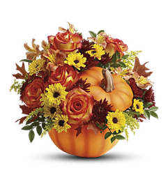 The Warm Fall Wishes Bouquet