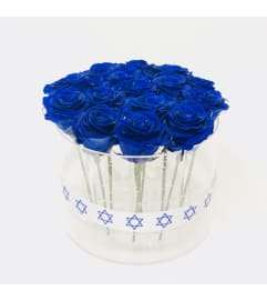 Acrylic Box cylinder for 15 roses