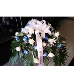 White and Blue Casket Piece