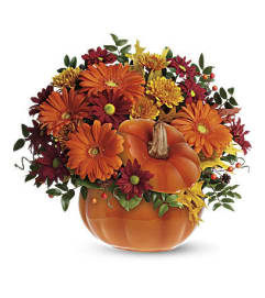 fall pumpkin arrangement