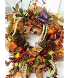 Fall Silk Door Wreath ***LOCAL DELIVERY ONLY***