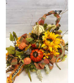 Silk Fall Cornucopia Centerpiece *** LOCAL DELIVERY ONLY***