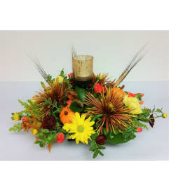 Votive Autumn Centerpiece