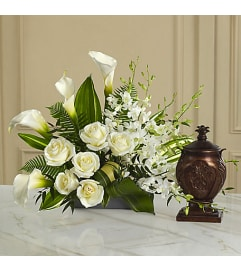 White Urn Arrangement