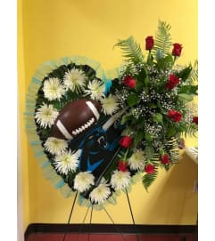 NFL Custom Design Heart Standing Spray