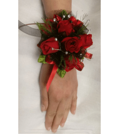 Putting on The Ritz Wrist Corsage