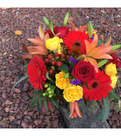 Designers Choice Fall Basket Arrangement