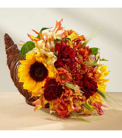 Fall Harvest™ Cornucopia Arrangement