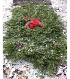 Evergreen Grave Blanket