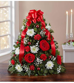 Festive Christmas Flower Tree