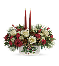 Teleflora Halls of Holly Centrepiece