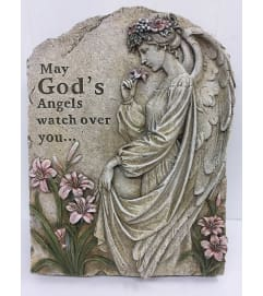 Resin Stone May God's Angel Watch over you