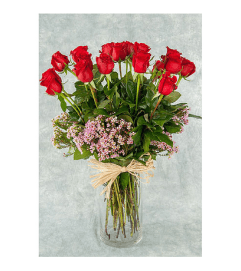 18 TRADITIONAL ROSE ARRANGEMENT