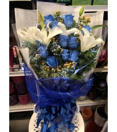 Blue Love Hand-tied Bouquet