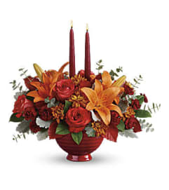 Autumn In Bloom Centerpiece T18T100