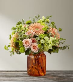 TCG's FTD Peachy Keen Bouquet- Deluxe